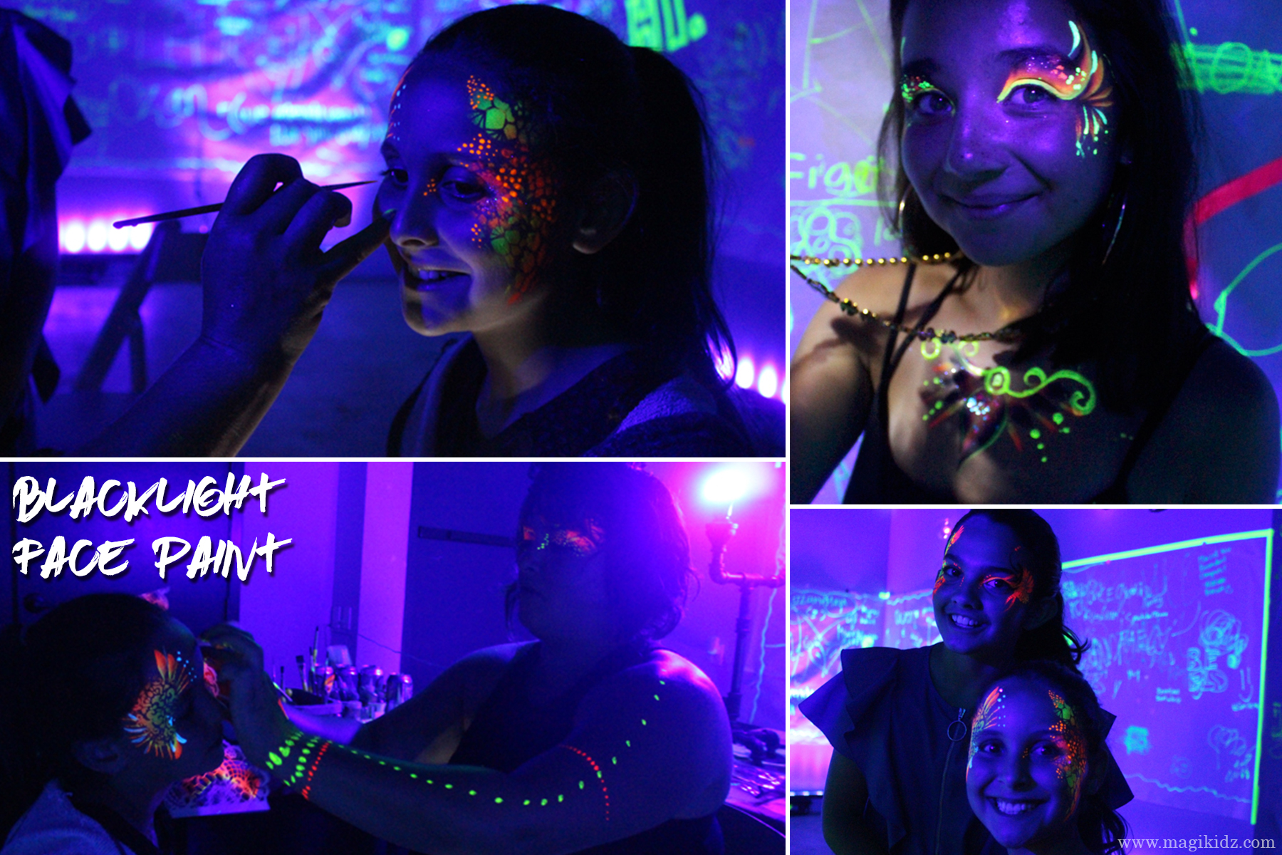 Blacklight Facepaint - MagiKidz