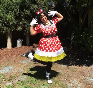 Molly performs in her Minnie Mouse costume!