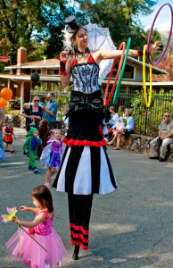 Sophia is a professional stilt walker with a variety of costume options!